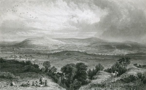 Rivington Place, Lancashire, viewed from Blackrod Date: circa 1830