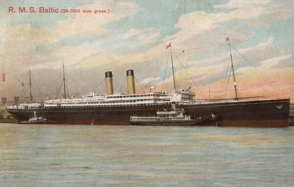 R.M.S Baltic - the second ship of that name belonging to the White Star Line. The largest ship in the world until 1905. In April 1912, the Baltic sent ice warnings to the RMS Titanic prior to the ship's disasterous collision with an iceberg