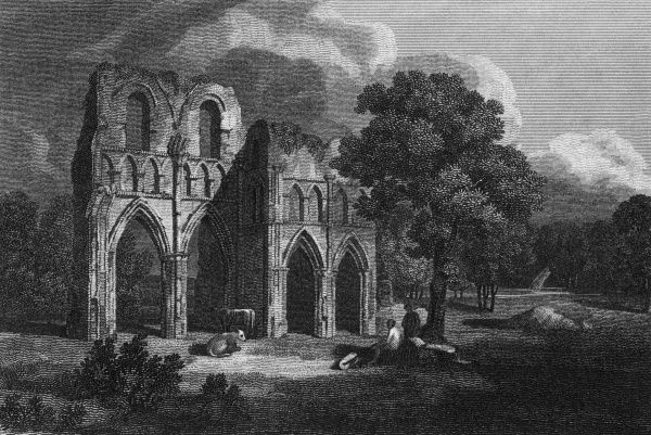 The ruins of Roach Abbey, Yorkshire. Date: 1813