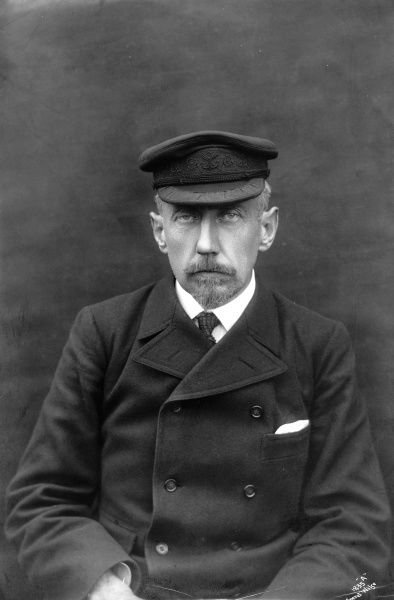 Photographic portrait of Roald Engelbreth Gravning Amundsen, the Norwegian explorer who was the first man to navigate the Northwest Passage and reach the South Pole
