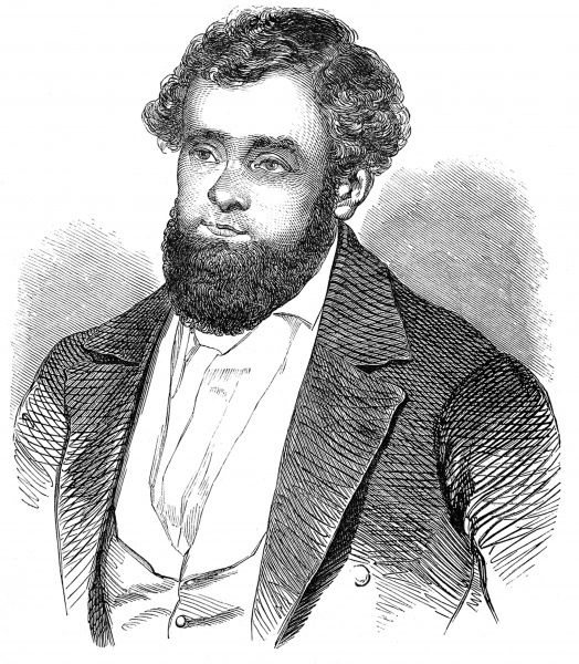 Engraved portrait of Robert Blum, the German liberal politician and writer, pictured c.1848