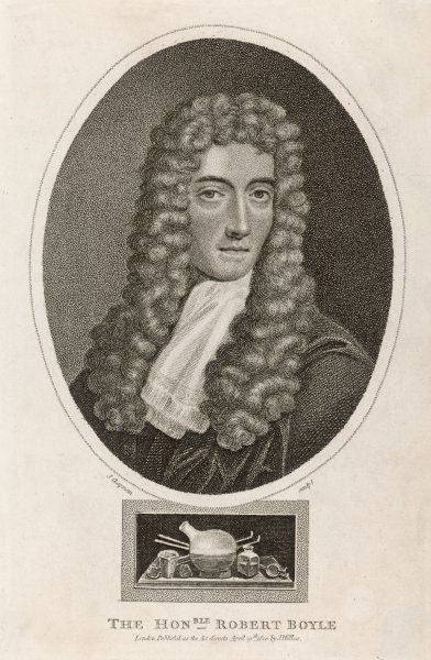 ROBERT BOYLE Irish scientist, propounder of 'Boyle's Law' respecting gases
