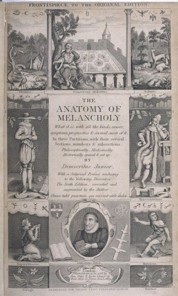 ROBERT BURTON (1577-1640) English clergyman and author who wrote The Anatomy of Melancholy under the pseudonym of Democritus Junior in 1621