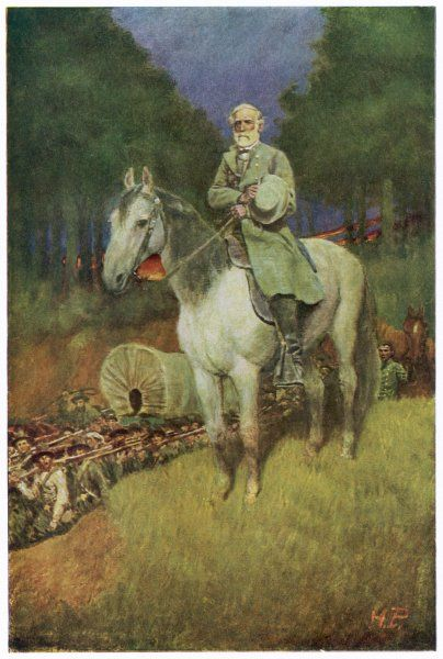 ROBERT EDWARD LEE American Confederate general on his horse, Traveler