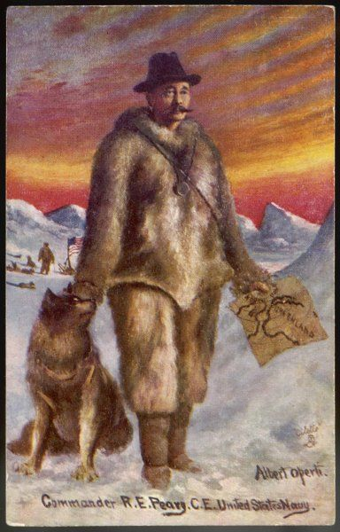 Robert Edwin Peary (1856-1920), American explorer who claimed to have been the first to reach the North Pole in 1909. Though this was accepted for a long time, it is now disputed
