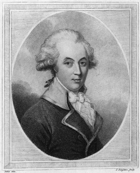 ROBERT JEPHSON Irish writer Date: 1736 - 1803