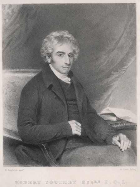 ROBERT SOUTHEY English poet and man of letters. Remebered more for his shorter works, than his epic poems such as 'Madoc&#39