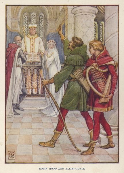 Robin helps Alan-a-Dale to stop the marriage of Alan's sweetheart Alice de Beauforest to the evil rich old knight Isenbart de Belame