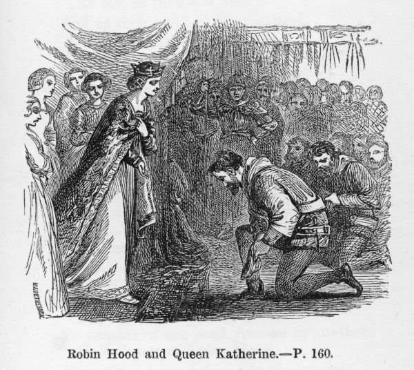 Robin is pardoned by Queen Katherine, who realises that beneath that rough exterior there beats a heart of gold