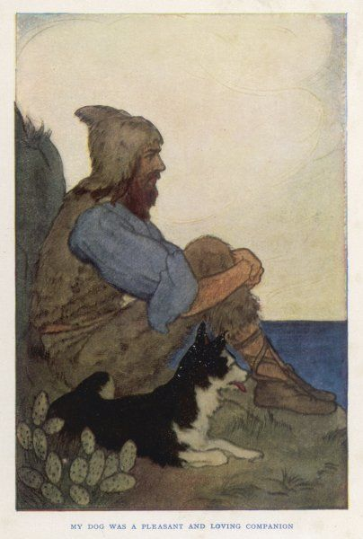 Robinson Crusoe and his dog