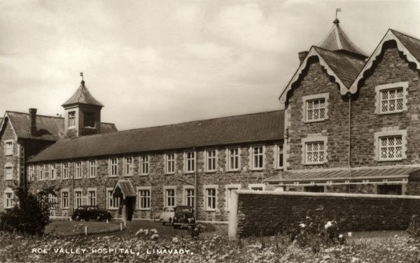 The Roe Valley Hospital at Limavady in County Londonderry, Northern Ireland. The building was originally opened in 1842 as the Newtown Limavady Union workhouse