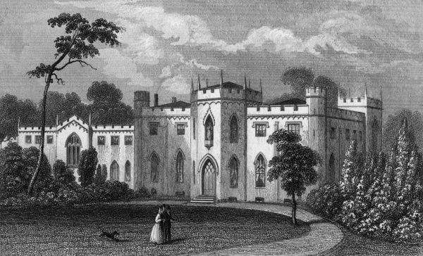 Roehampton Priory, then in Surrey, but now a psychiatric hospital in south west London. Date: 1846