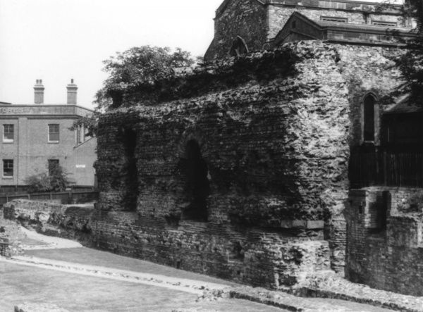 Part of the Roman Forum, now known as the 'Jewry Wall', Leicester, Leicestershire, England. Date: 1st century