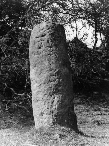 The Roman Milestone at Chesterholme, the only Roman milestone in Britain which still stands in its original position, by a Roman Road, near Hadrian's Wall. Date: 1st century