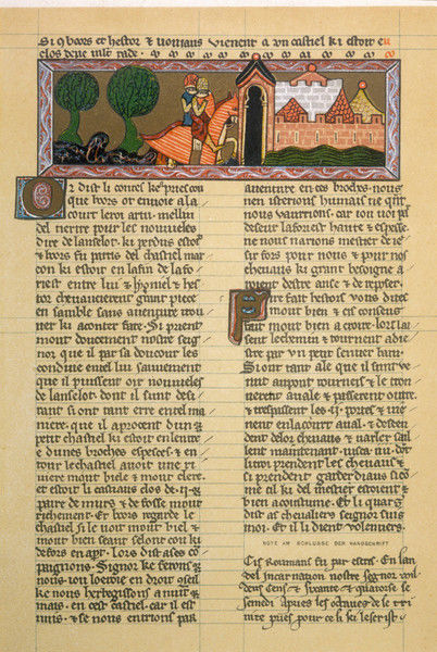 Page from the Romance of Roi Artus (= King Arthur)