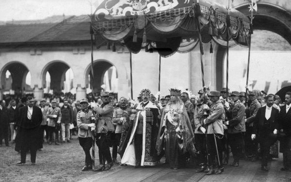 The coronation of King Ferdinand and Queen Marie of Romania at Alba Julia in Transylvania on 15 October 1922