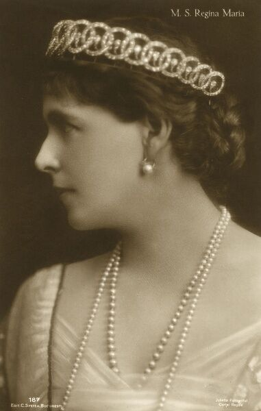 Romanian Royalty - Queen Maria (1875-1938) Date: circa 1910s