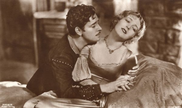 RONALD COLMAN English actor of stage and screen, with Vilma Banky Date: 1891 - 1958