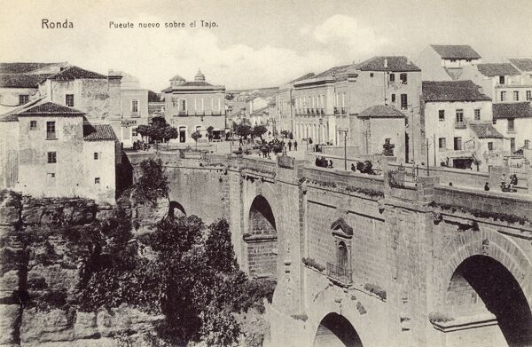 Ronda, Spain - New Bridge over the Tagus River Date: circa 1910s