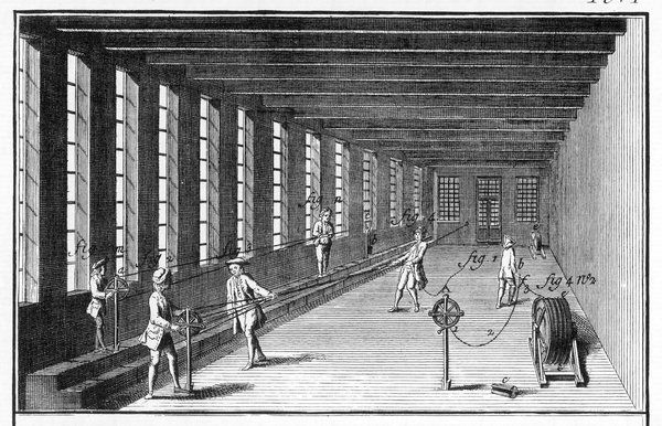 Manufacture of rope in the mid-eighteenth century