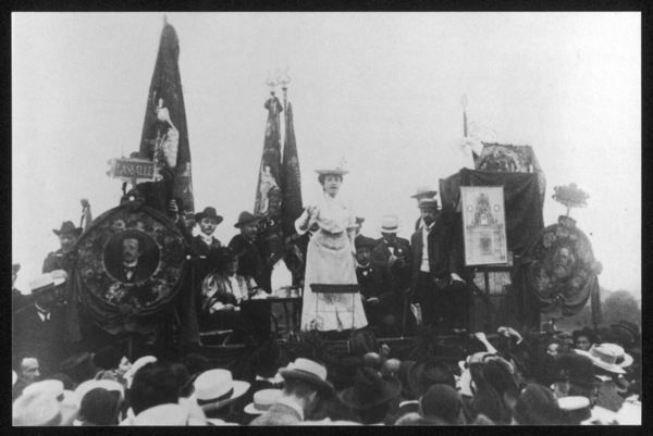 ROSA LUXEMBURG German Socialist agitator and leading intellectual of the German left, giving a speech