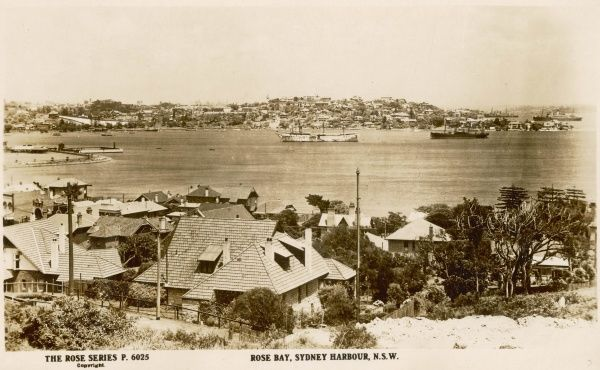 Rose Bay, Sydney Harbour, New South Wales, Australia in the 1900s