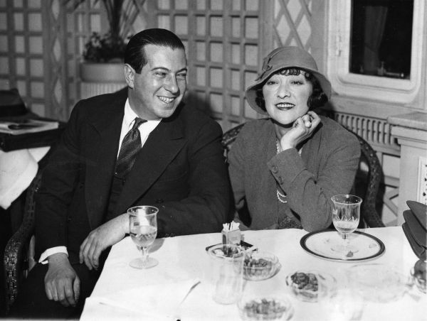 Rosie Dolly and Irving Netcher as they arrived in New York from Paris aboard Olympic for their wedding, March 1932