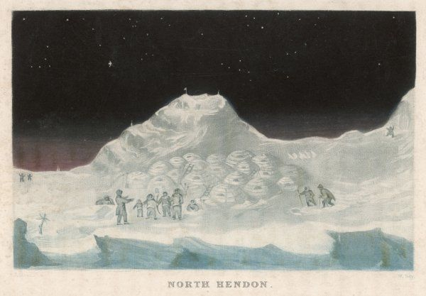 John Ross's arctic expedition: Snow cottages of the Boothians, North Hendon