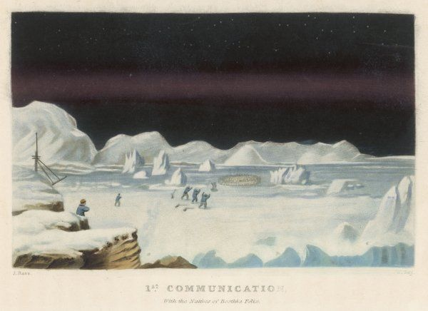 John Ross's arctic expedition: the first contact with the native Eskimos of Felix Harbour or Boothia Felix