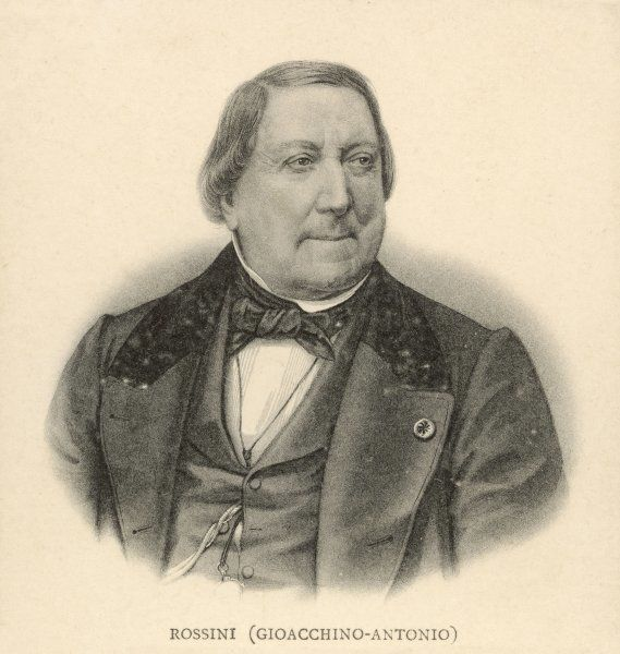 GIOACCHINO ROSSINI the Italian composer in middle age