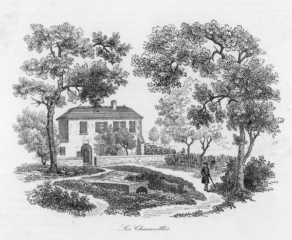 JEAN JACQUES ROUSSEAU The home at Les Charmettes which Rousseau shared with Mme de Warens and where he spent a very happy period of his life
