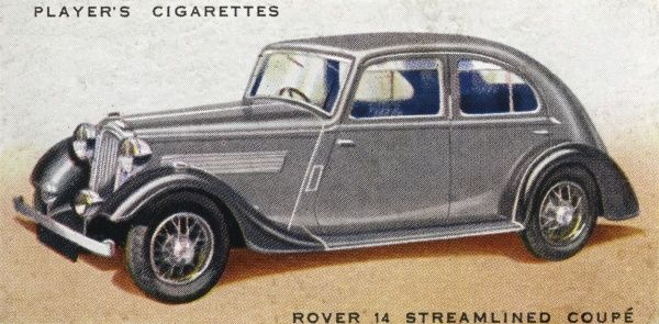 The Rover 12 Streamlined Coupe doesn't look any more streamlined than other cars of the period, but it's a handsome enough family car. Date: 1936