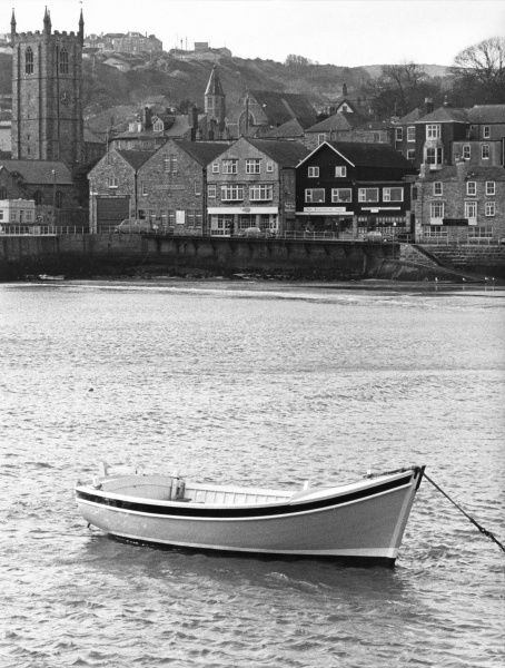 A rowing boat, the Kathryn Anne of Exmouth, moored off the Devon coast. (2 of 2)