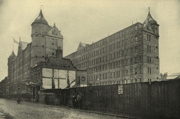 The Rowton House (named Tower House, built in 1902) on Fielding Street, Whitechapel, East London