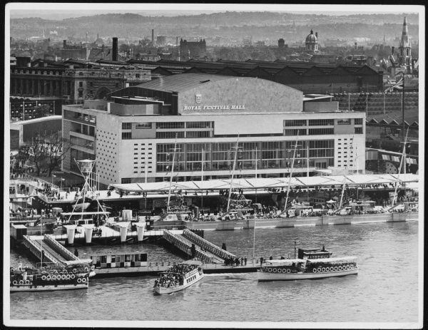The newly built Royal Festival Hall at the South Bank in London