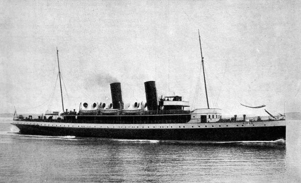 Photograph of the Royal Mail Turbine steamer 'Viper', built in 1906 by the Fairfield Shipbuilding and Engineering Co