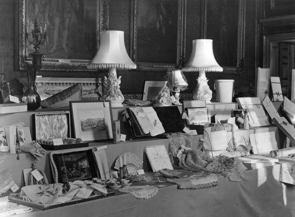 ELIZABETH II Some of the wedding presents given to Princess Elizabeth upon her marriage to Prince Philip on 20 November 1947