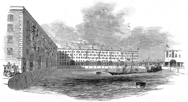 Prince Albert's visit to Liverpool involved his arrival on the royal yacht which entered The Albert Dock, named after him to commemorate his visit in July 1846