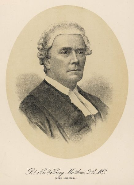 HENRY MATTHEWS Henry Matthews, Viscount Llandaff, politician and lawyer. Home Secretary in Lord Salisbury's first government