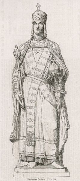 EMPEROR RUDOLF I of HABSBURG Holy Roman Emperor and King of Germany (1273-91)