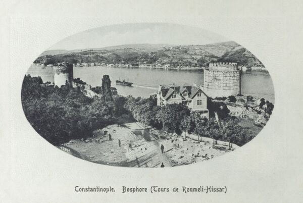 Part of the Rumeli Hisari, a Fortress on the European side of the Bosphorus