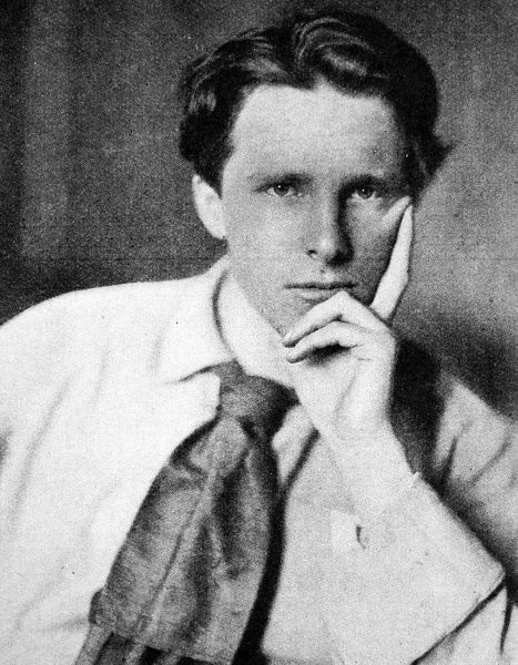 Photographic portrait of Rupert Chawner Brooke (1887-1915), the English poet, pictured c.1915