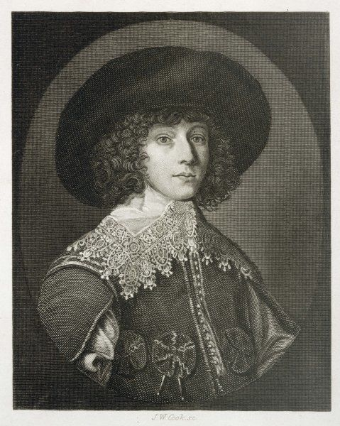 PRINCE RUPERT OF THE RHINE son of Friedrich V and Elizabeth Stuart Royalist general, when young