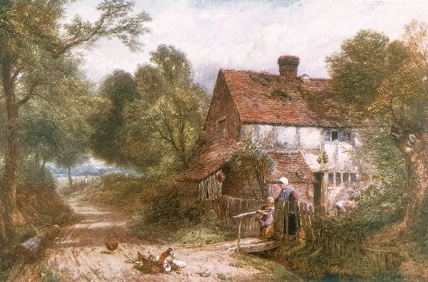 A country cottage in Surrey Date: mid-19th century
