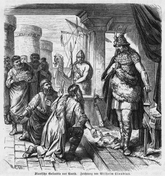 Rurik receives a deputation of Slav prisoners