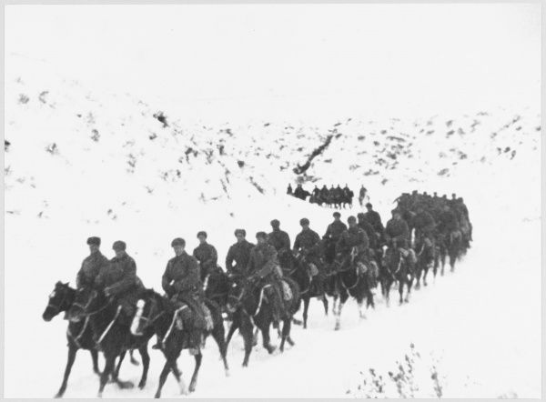 A Cavalry Unit going back to the front
