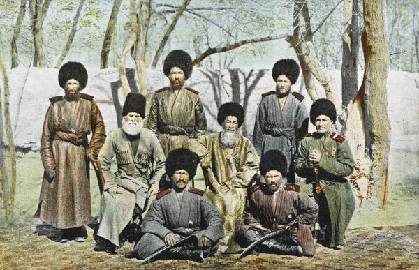 Russian Cossacks from Volga and Don area, Russia