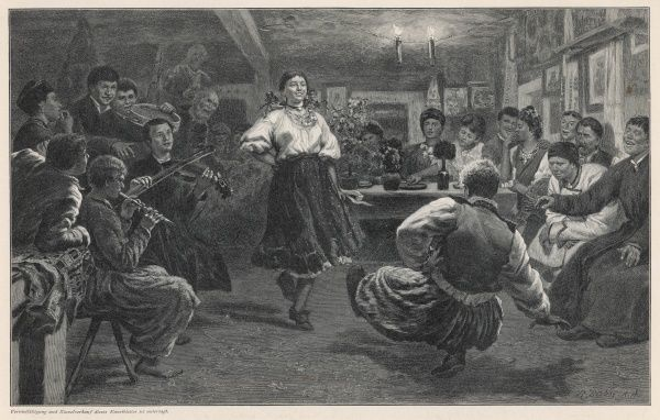 A country dance in Little Russia (southwest Russia, including Ukraine)