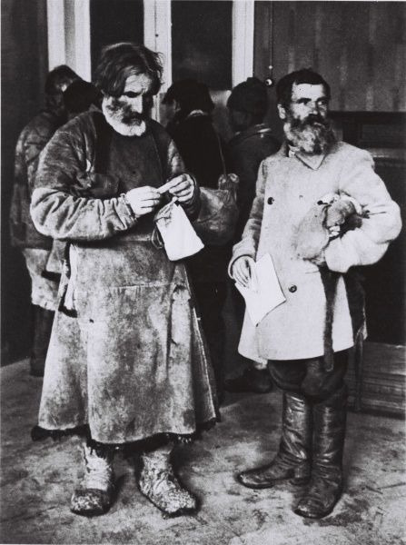 Two kulaks in Soviet Union just before the collectivisation of agriculture, 1920s. Date: 1920s