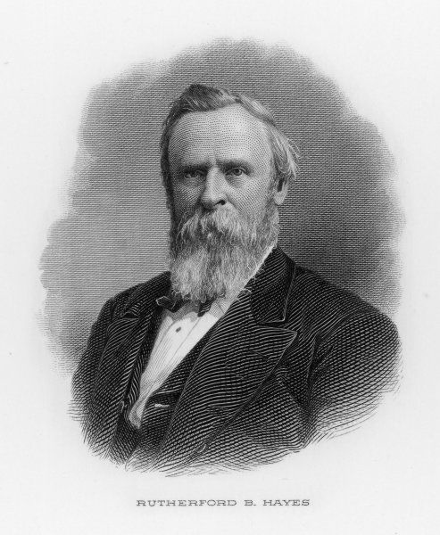 RUTHERFORD BIRCHARD HAYES 19th US President (1877-81)